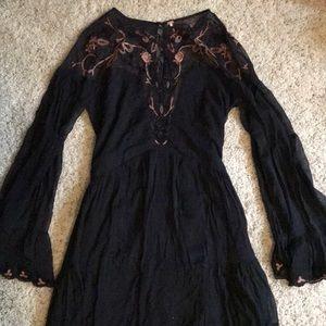 Black Free People babydoll dress